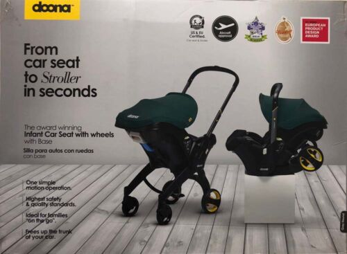 Doona Infant Baby Car Seat Travel Stroller Grey Hound with Latch Base NEW 2019