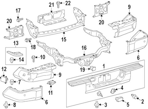 2016 toyota tundra rear bumper parts diagram  toyota  auto