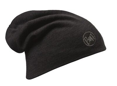 Buff Merino Wool Thermal Hat - solid black ()