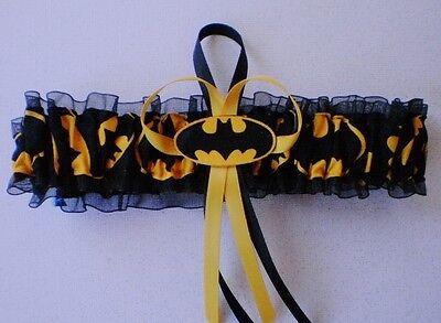 Batman Fabric Logo Superhero Wedding Garter Toss Bat Man Prom (Superhero Wedding)