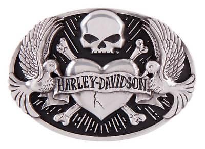 Harley-Davidson Women's Sculpted Tattoo Belt Buckle, Antique Silver HDWBU11408