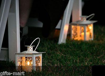 "10 small mini 4"" white lamp Candle holder Lantern lamp wedding table decoration"