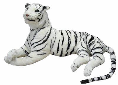 Peluche Tigre Blanca Panthera Tigris Tigres Suave Gran Más 210 CM Cola...