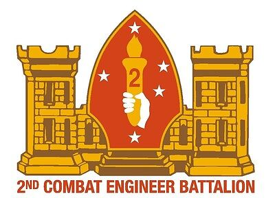2nd Combat Engineer Battalion Sticker Decal  R278 CHOOSE SIZE FROM DROPDOWN ()