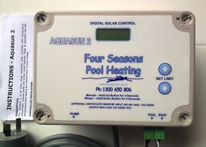 swimming pool spa solar heating pump digital controller dontek aquasun 2 new ebay
