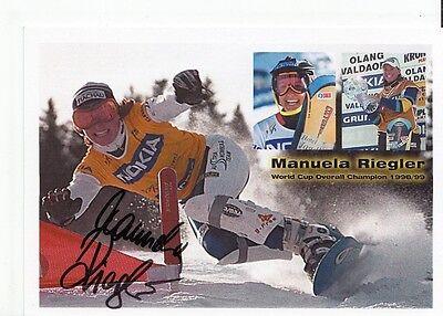 Manuela Riegler TOP AK Original Signiert Snowboard +A37729