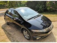 2007 Honda Civic 1.8 ES I-VETEC 5dr Hatchback - Black - 6spd - Panoramic Sunroof