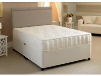 STANDARD DOUBLE *** Brand New Double Divan Bed With Semi Orthopedic Mattress Only £89