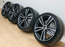 "Genuine BMW 3 & 4 Series 19"" M Sport Alloy Wheels + Tyres F30 31 32 33 442M E90"