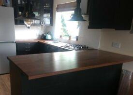 IKEA KARLBY Worktop Walnut - brand new, custom made, extra-long 250 x 63.5 x 3.8cm