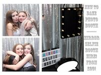 NEW FROM ONLY £99 AMAZING MIRROR PHOTO & SELFIE BOOTH! IDEAL FOR PARTIES & EVENTS