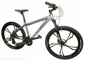 """Be Unique Mag Wheels Great Look ! Brand new 24 speed High Specs 16"""" Frame Mtb Alloy 26 Bike"""