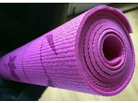 Light Purple Flower Print Calmia Yoga Mat, Thick, Use only once or twice