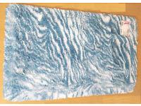 Soft Anti Slip Rug Animal Zebra Print Room Rug Carpet Mat 65 x 110cm Teal