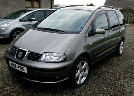 2007 SEAT ALHAMBRA TDI 7 SEATER EXCELLENT CONDITION