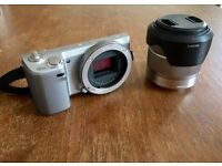 Sony Alpha NEX-5N 16.1MP Digital Camera - Silver (Kit w/ 18-55mm Lens)