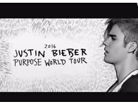 JUSTIN BIEBER STANDING TICKET GLASGOW HYDRO FOR THURSDAY 27TH OCTOBER