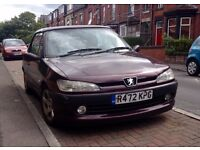 Beautiful Peugeot 306 convertible, in need of a bit of TLC