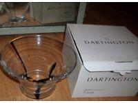 Dartington glass large bowl boxed & new