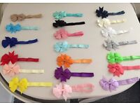 Girls bow headbands
