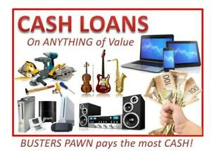 CASH LOANS on ANYTHING of value.  Need Money? Get a Loan on Tools, TVs, Computers, Video Games, Instruments and More!!!