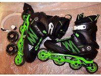 K2 F.I.T. Pro 84 Inline Skates Rollerblades Black/Green SZ 10.5