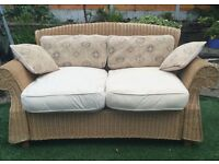 Beautiful 2 seater wicker conservatory sofa