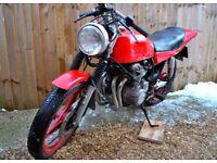 Honda CB 400 Four SOHC tax exempt classic cafe racer flat trackerproject