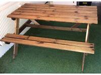Picnic/Pub Bench Garden Table