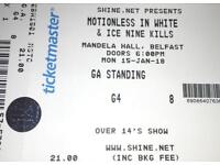 Two Motionless In White Tickets Belfast