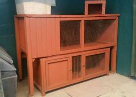 2 x Rabbit/guinea pig hutches
