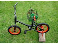Black Metal Strawberry Planter Bike for Garden