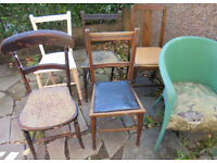 Various Chairs to paint or upcycle - £8 each