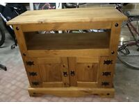 TV unit, Mexican Pine, good condition