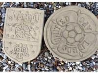 Arsenal and Leeds Garden Stepping Stones x1 of each Brand New