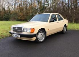 1989 W201 MERCEDES 190D MANUAL low miles