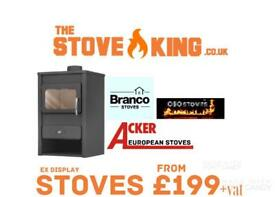 Stove new cast iron modern ex display sale