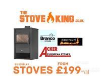 Stove new cast iron modern ex display sale