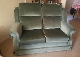 2 seater sofa and matching arm chair.