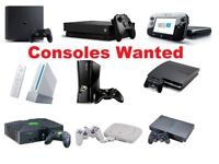 WANTED - CONSOLES + GAMES BUNDLES