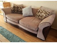 Fawn Chenille 3 seater & 2 seater sofa for sale - £100 for set. In great condition. Collection only.