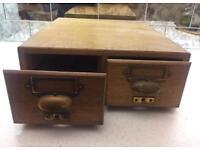 Antique Index Card File chest