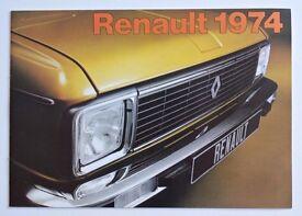 Renault 1974 Brochure