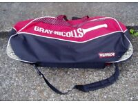 GRAY-NICOLLS, Cricket Bag, Takes kit Bat Etc, With Pads +Gloves Bag like New.