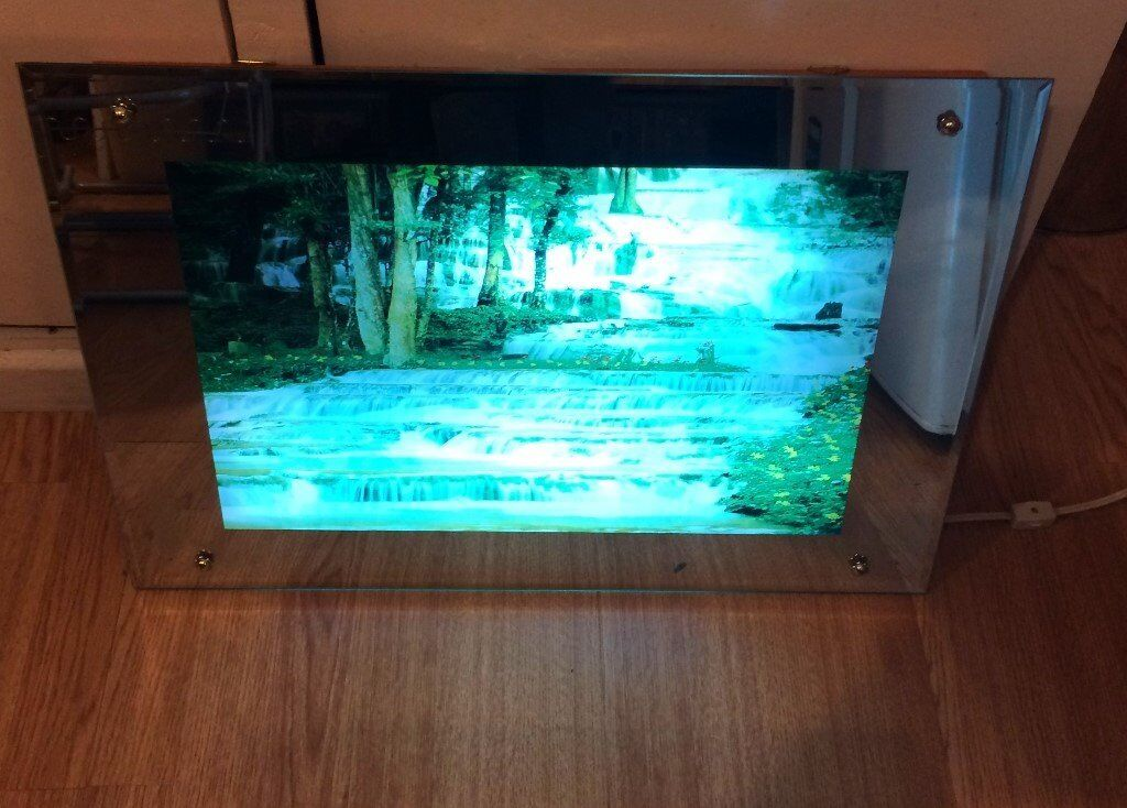 Reduced Open To Offers Moving Lighted Waterfall Picture