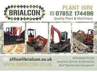 Mini Digger Hire, Staffordshire & West Midlands