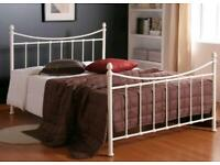 Double Size Metal Bed Frame and mattress