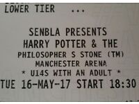 x2 tickets Harry Potter and The Philosopher's Stone with live soundtrack. Manchester, Tues 16th May.