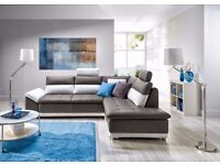 MIRELLA Corner Sofa Bed PU Leather or Fabric 1-10 days Delivery