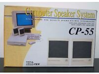 Vintage Hi-Tex Computer Speaker System CP-55